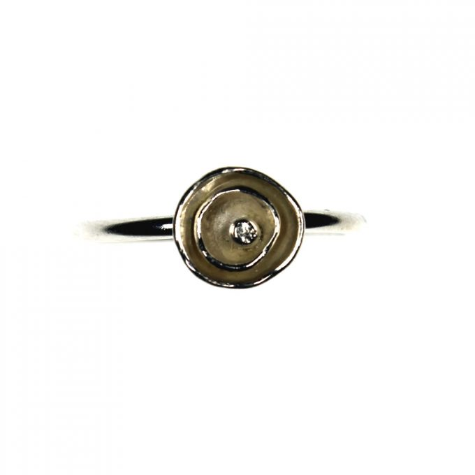 Silver Petal Ring