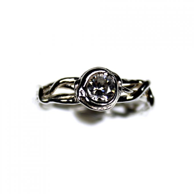 Twisted Gem Ring